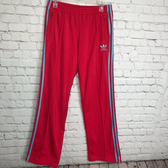 Adidas Original Track Pant Red Light Blue 3 Stripe